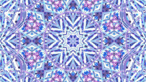 Colorful Kaleidoscopic Background. Kaleidoscopic loopable patterns Animation