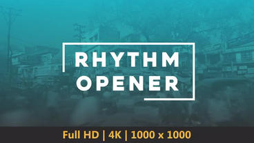 Rhythm Opener After Effects Template