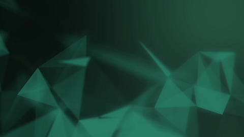 Abstract connected triangles on bright green background. Technology concept Animation