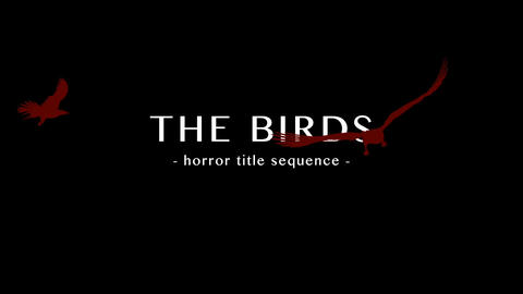 The Birds - Horrror Titles - Apple Motion 5 Apple Motion Template