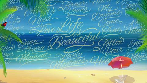 Sunny Beach Background Archivo
