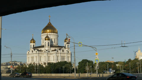 MOSCOW, RUSSIA , August 28, 2017:: Orthodox Church of Christ the Savior. Moscow Footage