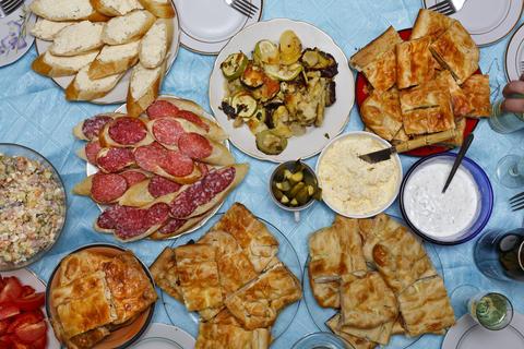 Various homemade dishes Fotografía