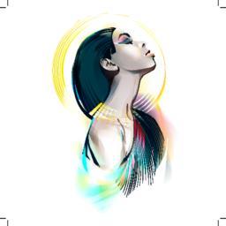 Egyptian Goddess. Portrait Of A Girl ベクター