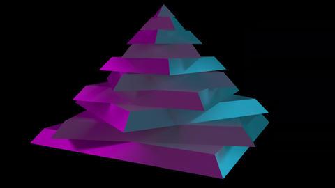 Rotating sliced pyramid Footage