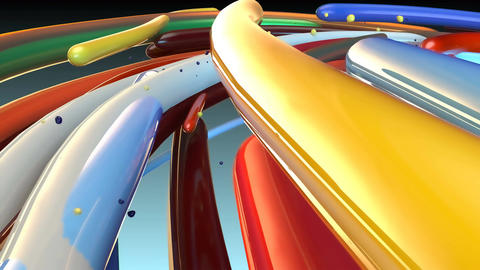 Abstract Loopable CGI motion graphics with colored lines Animation