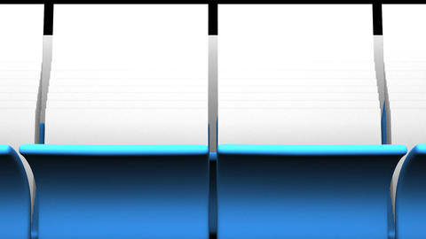Blue Folders And Documents On Black Background Animation