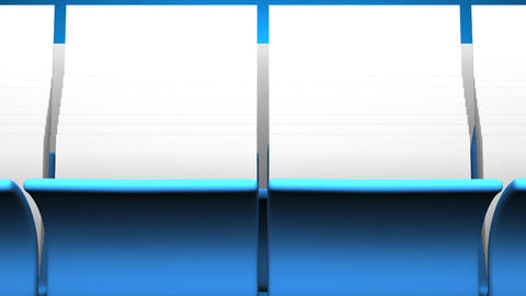 Blue Folders And Documents On Blue Background CG動画
