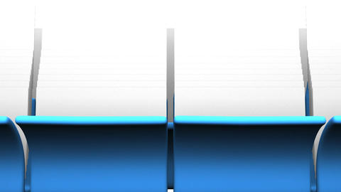 Blue Folders And Documents On White Background CG動画