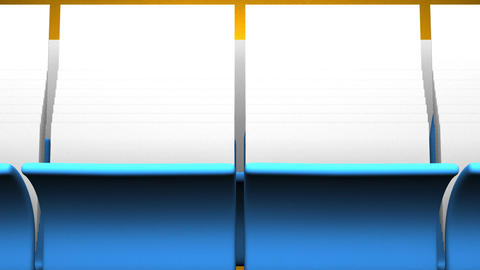 Blue Folders And Documents On Yellow Background CG動画
