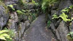 Walking through a mountain path Hyperlapse Footage