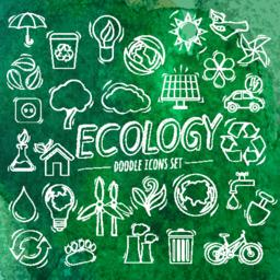 Ecology Doodle Icons ベクター