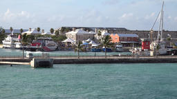 Bermuda Royal Naval Dockyard view to the waterfront during sail away ビデオ