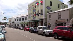 Bermuda capital city Hamilton Pembroke Parish Queen Street warehouse Footage