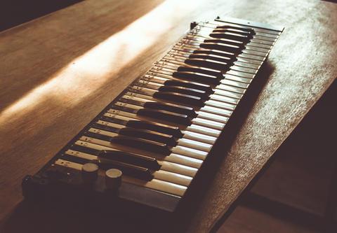 Vintage lonely sad keys Foto