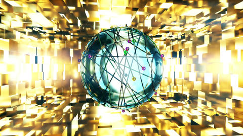Abstract CGI motion graphics with sci-fi spheres Animation
