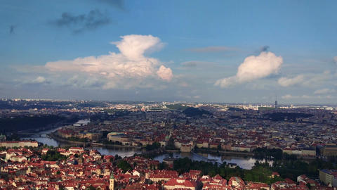 Panorama of historical center of Prague GIF
