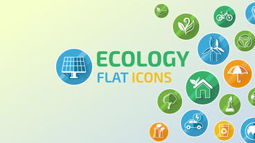 Ecology Concept Icon Set After Effectsテンプレート