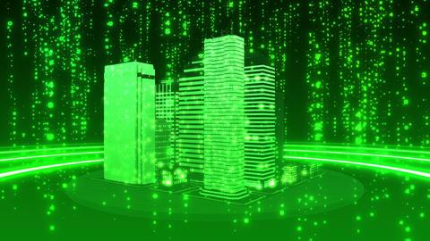 SHA Green City Cyber BG Image Animation