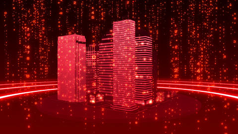 SHA Red City Cyber BG Image Animation