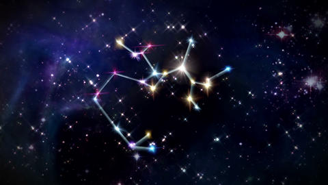 09 Sagittarius Horoscopes space rotation Animation