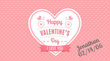 Kinetic Type Valentine Greetings After Effects Project