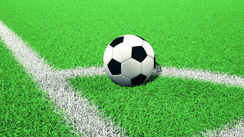 Soccer Ball On Corner stock footage