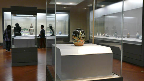 Art Japanese Asian Collection At National Museum Tokyo... Stock Video Footage