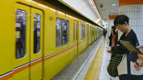 Subway Station Metro Train Commuters People In Tokyo Japan Asia Footage