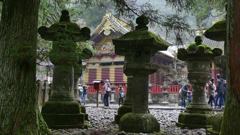 Toshogu Shrine Temple Pagoda Religious Building Monument Nikko Japan Asia Footage