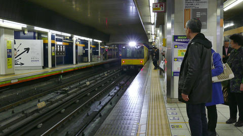 Underground Subway Station Train Railway People In Tokyo Japan Asia Footage