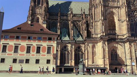 Prague, Czech Republic - August 21, 2017. St. Vitus Cathedral GIF