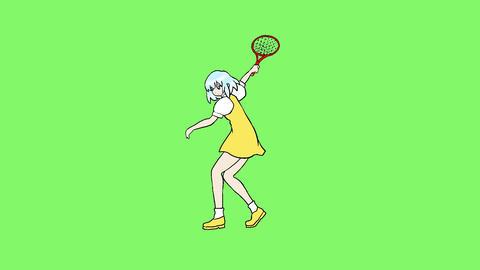 Tennis girl Animation