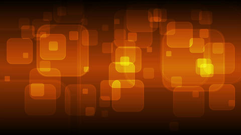 Dark orange geometric squares glowing video animation Animation