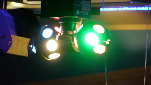 loopable video of blurred blinking lights Footage