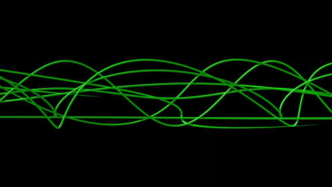 Glowing wavy organic lines 4K video background Animation