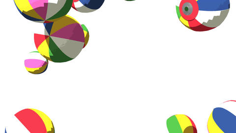 Japanese Paper Balloons On White Background Animation