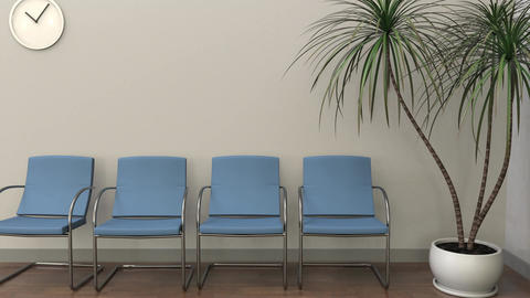 Waiting room at hematologist office Footage