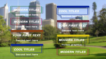 Modern and colorful titles Plantilla de After Effects