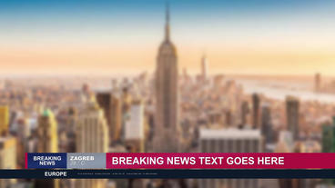 News graphic package After Effects Template