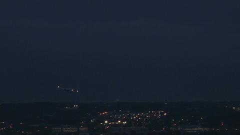 Closeup plane through lightning Footage