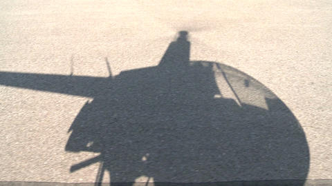 Helicopter shadow Footage