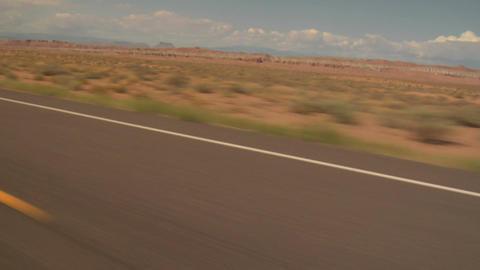 Highway driving near boulder utah shaky Footage