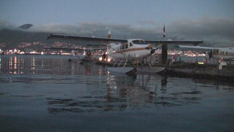 Plane idle in vancouver bay Footage