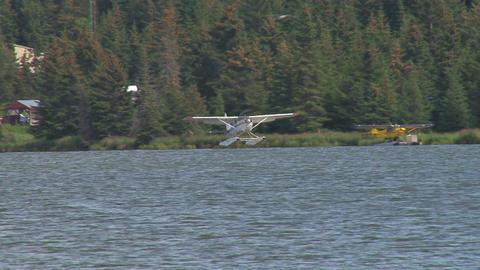 Seaplane landing on water Footage