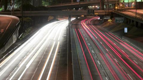 Speeding los angeles highway cars Footage