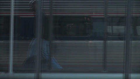 Train passing through station Footage
