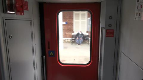 Pov inside moving train Footage