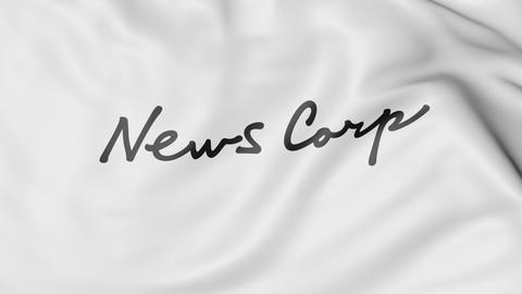 Waving flag with News Corp logo. Editorial 3D rendering Photo