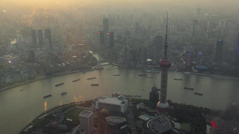 Landscape Near The Bund From Shanghai Tower In China Asia Footage